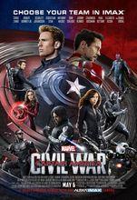Plakat filmu Kapitan Ameryka: Wojna bohaterów