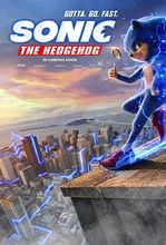 Movie poster Sonic. Szybki jak błyskawica