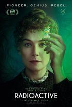 Plakat filmu Skłodowska. Radioactive